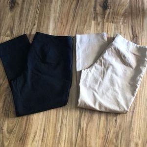 Flat front crop pants